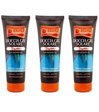 3pz DELICE SOLAIRE Doccia Gel Solare Bronze 250ml corpo shower gel carotene