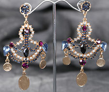 MS-354 Vintage Kistall Ohrringe Ohrschmuck Ohrstecker Crystal Earrings Schmuck