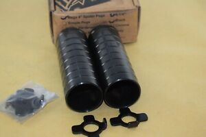 HARO MEGA peg stander set 14mm or 10mm axle mid school bmx black steel NOS