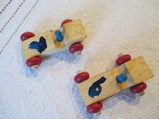 2 Montgomery Schoolho 00004000 Use Wooden Toy Cars 3.5 inches long Made in Vermont