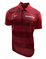 Nike Men's Alabama Dri Fit Short Sleeve Striped Polo Red Size Large