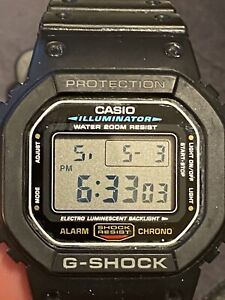 Casio G-SHOCK Black Resin Case and Band, Men's Watch (G-5600E)