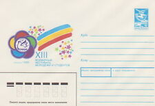 Russia, Soviet Union envelope festival of youth and students