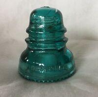 Vintage Aqua Blue Hemingray - 40 Insulator Made In USA #4