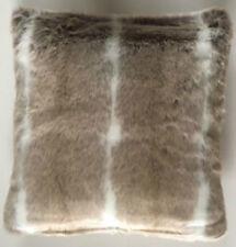 SUPER SOFT HUSKY STRIPE FAUX FUR ANIMAL PRINT LUXURIOUS CUSHION COVER 43 X 43 CM