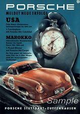 VINTAGE PORSCHE 1952 MOTOR RACING A2 POSTER PRINT