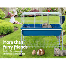 79cm Bunny Rabbit Guinea Pig Animal Cage Hutch Habitat Wheel Stand House / Home
