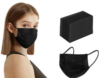 100/50 PCS Black/Blue Face Mask Mouth& Nose Protector Respirator Masks US Seller
