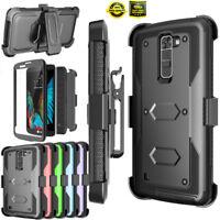 For LG K10 / LG Premier LTE Phone Full Body 360° Clip Holster Stand Case Cover