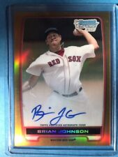 Brian Johnson 2012 Bowman Chrome Gold Refractor Auto (24/50) + 4 Add. Cards