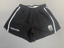 "Macron Men's Scottish Rugby Shorts Black size Small (30"" waist)"
