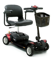 NEW RED Pride Go Go Elite Traveller 4 Wheel Travel Mobility Scooter 12ah