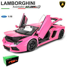 NEW PINK 1:18 LAMBORGHINI AVENTADOR LP700-4 DIECAST CAR MODEL TOYS BY WELLY