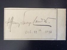 Signed GENERAL WILLIAM LOCKHART Commander in Chief India*Afghan War*Bhutan+++