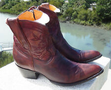 OLD GRINGO Boots Womens Cowboy Boots Red Polished Brown Leather Size 8 NIB