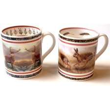 Set of 2 Mugs Goldfinch & Robin by Wildlife Artist Robert E Fuller With Boxes