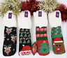 Womens Christmas Warm fluffy Slipper Socks Non Slip Gift Girls Sock Size 4-7