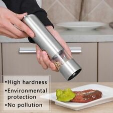 1PC Kitchen Stainless Steel Electric Salt Pepper Spice Mill Grinder Muller Tool