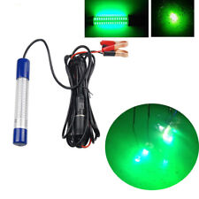 Green Fishing LED Light Night Underwater Submersible Crappie Shad Squid Boat