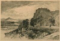 STIRLING CASTLE · Landscape Etching by John MacWhirter · Signed in Pencil · 1889