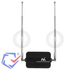 Antena TDT Interior 12V/5V Coche SMD HD1080 Automóvil DVB-T VHF UHF Amplificada