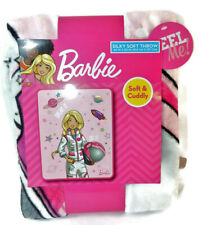 NWT Mattel Barbie Pink Astronaut 40 in. X 50 in. Soft Throw