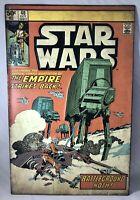 "Star Wars Comic Book #40 Metal Tin Embossed Sign Battleground Hoth - 8 1/2"" x 13"