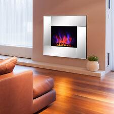 elektrisch Kamin Wandkamin Elektrokamin Kaminofen mit Fernbedienung 1800w LED