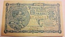 1 Franc, 1922 1 Frank KM:92 Biljet, België Belgique Belgium