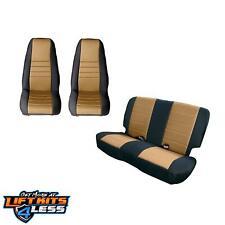 Rugged Ridge 13290.04 Black/Tan Seat Cover Kit for 1980-1990 Jeep CJ-7/CJ-8/CJ-5