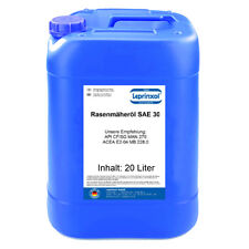 20l SAE30 4-Takt 4-T Rasenmäher-Öl Einbereichs Motoröl ACEA E2-04 20 Liter