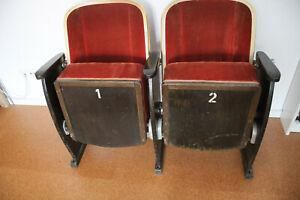 2 Kinostühle, Kinosessel, 50 er Jahre, guter Zustand, Restaurationsobjekt