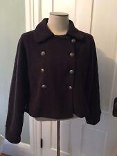 Fjällräven  Women's Coat Jacket, wool Brown,  nice Size L EUC