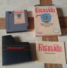 FAXANADU NES 1989 - COMPLETE IN ORIGINAL BOX
