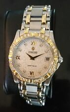 STUNNINGS MENS CONCORD SARATOGA ST 5L DIAMOND DIAL + BEZEL 1CT TOTAL WEIGHT
