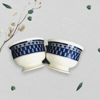 Mikasa Potters Touch Aztec Blue Set of 2 Mugs Coffee Tea Chocolate Cups CB009