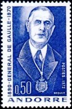 "ANDORRE FRANCAIS STAMP TIMBRE YVERT 224 "" GENERAL DE GAULLE 50c "" NEUF xx  LUXE"