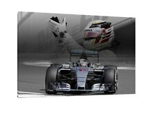 Lewis Hamilton Silversrtone 2015 30x20 Inch Canvas Mercedes Framed Picture