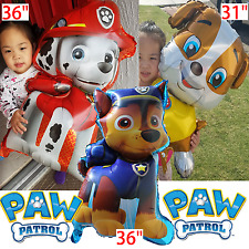 3 PACK PAW PATROL MARSHALL CHASE RUBBLE FOIL BALLOONS BALOON