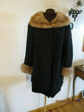 Fabulous vintage Elsa Schiaparelli Persian Lamb coat with mink collar & cuffs
