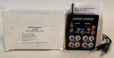 4 Place Aviation Pilot Aircraft Intercom Calls Music PTT Button Portable Battery