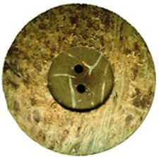 6 REAL COCONUT SHELL BUTTONS, 18mm MADE FROM NATURAL MATERIAL