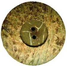 6 boutons coquille de coco véritable, 18mm fabriqué à partir de matériaux naturels