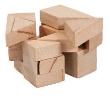 """Fridolin IQ Test Holzpuzzle in Plexiglaswürfel """"3D Tangram"""""""