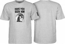 Powell Peralta Animal Chin Skateboard Shirt Ash Grey Large