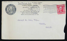 The Mutual Life Insurance Company New York 1905 First American USA lettera (a2828