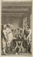 CHODOWIECKI (1726-1801). Des Vogts zerbrochener Krug; Druckgraphik