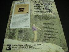 Paul Winter Grammy Nominee Best New Age Album 1995 Promo Poster Ad Prayer - Wild