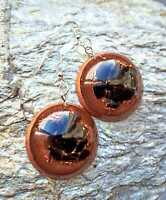 "pendant earrings orgone ""Nadia"", Black Tourmaline, copper, Reiki Chakra"