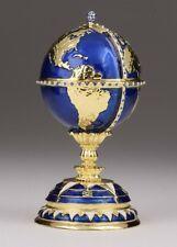 Faberge Egg & Ship trinket box hand made by Keren Kopal & Austrian crystals
